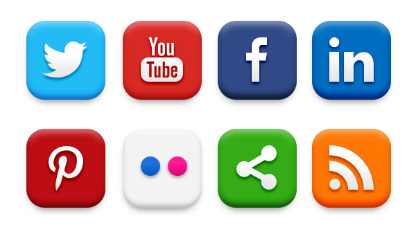 Image of social media share buttons